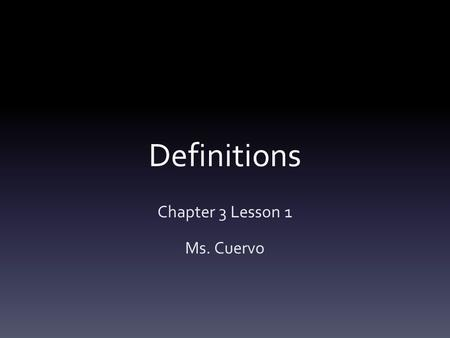 Definitions Chapter 3 Lesson 1 Ms. Cuervo. Vocabulary Parallel Lines-Coplanar lines that do not intersect Skew Lines-noncoplanar lines. Neither parallel.