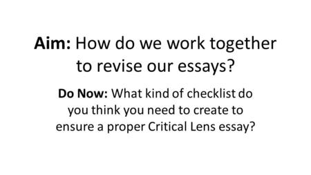 thinking essay outline for critical