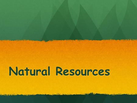 Natural Resources. Newfoundland and Labrador Resource – MINES!!!