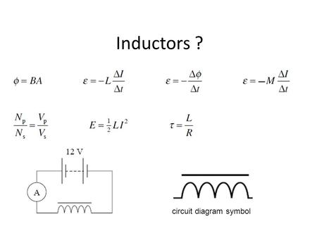 Inductors ? circuit diagram symbol.