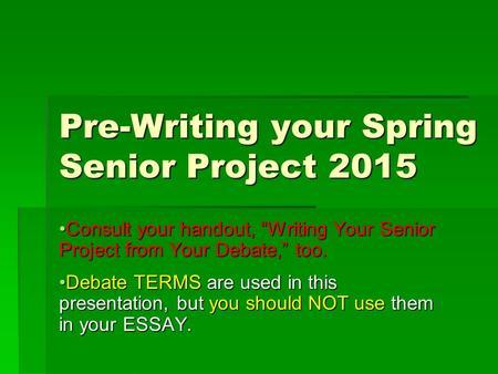 pre-writin essays