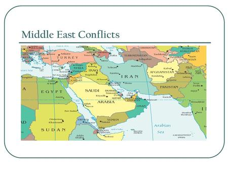Middle East Conflicts. Conflict over Palestine After WWI, Great Britain controlled Palestine. Palestine is located in the region the Jews called Judah.
