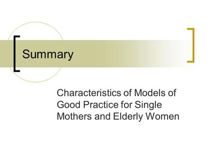 an overview of the rate of single motherhood job