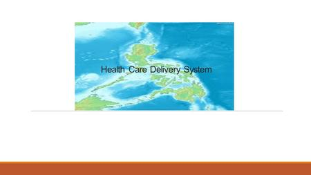 Health Care Delivery System.  About 75 percent of the total population of the barangay are being served, Because some of the people of the Barangay goes.