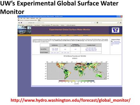 UW's Experimental Global Surface Water Monitor