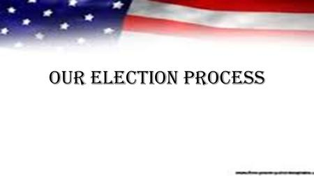 Our Election Process. We Begin- The Election of1800… Federalist Party VS Democratic-Republican Thomas Jefferson John Adams Thomas Jefferson Thomas Jefferson.