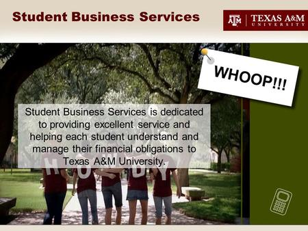 Student Business Services Student Business Services is dedicated to providing excellent service and helping each student understand and manage their financial.