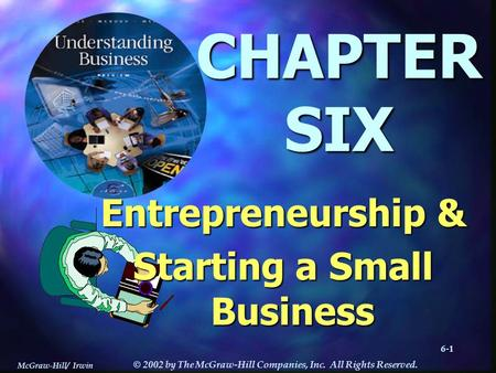 McGraw-Hill/ Irwin © 2002 by The McGraw-Hill Companies, Inc. All Rights Reserved. -16-1-16-1 CHAPTERSIX Entrepreneurship & Starting a Small Business.