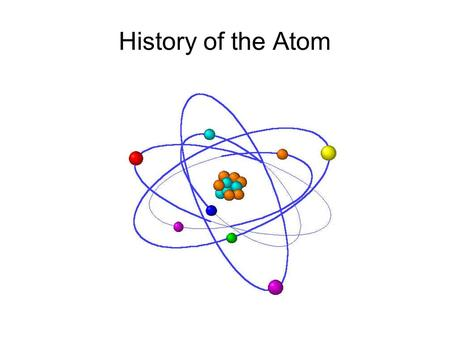 History of the Atom. Democritus of Abdera Democritus: 460-370 BCE Greek mathematician and philosopher Co-author (with Leucippus) of the idea that all.