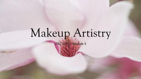 Makeup Artistry LTEC 3220 – Module 5. Basics of Makeup Application BeforeDuringAfter Sources Exit.