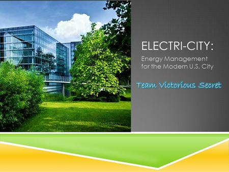 ELECTRI-CITY: Energy Management for the Modern U.S. City.
