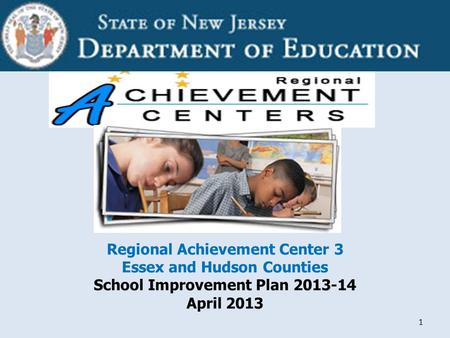 Confidential 1 Regional Achievement Center 3 Essex and Hudson Counties School Improvement Plan 2013-14 April 2013.