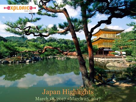 Japan Highlights March 18, 2017 - March 25, 2017.