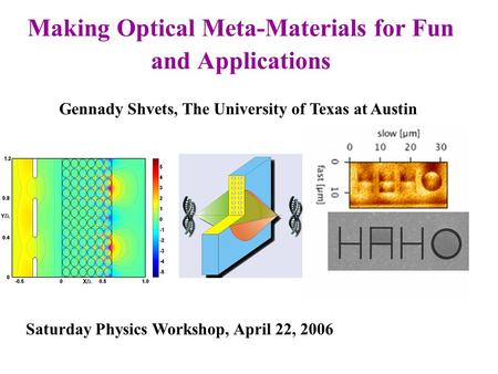 where are surface plasmon polaritons physics and applications