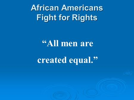 Equal rights for all americans essay
