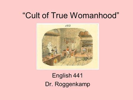 Cult of true womanhood