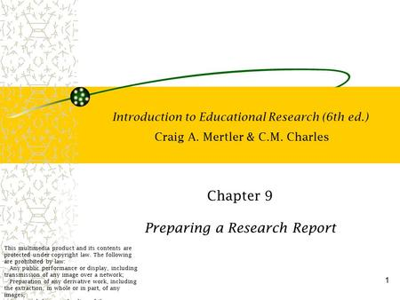 Chapter 9 Preparing a Research Report