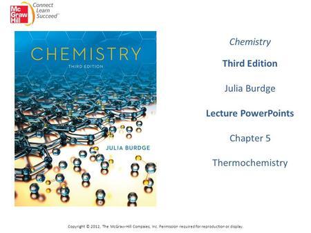 CHEMISTRY BURDGE JULIA