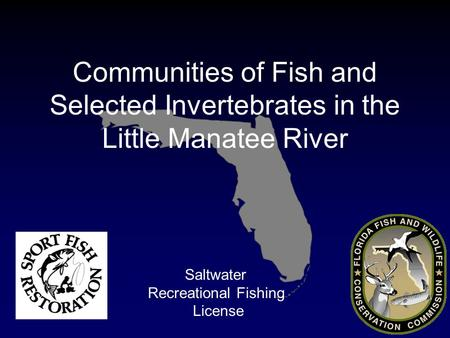 Saltwater Recreational Fishing License Communities of Fish and Selected Invertebrates in the Little Manatee River.
