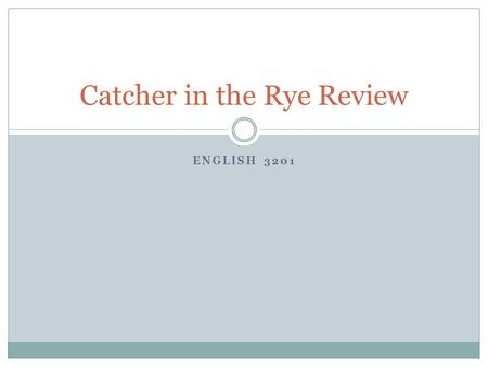 the catcher in the rye flashbacks Free barron's booknotes for the catcher in the rye-online book summary/synopsis-always free.