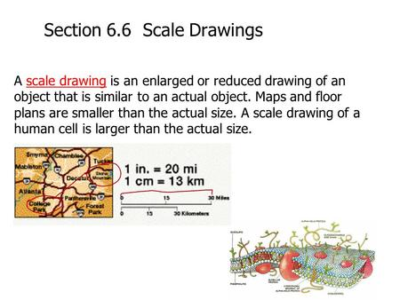 Section 6.6 Scale Drawings