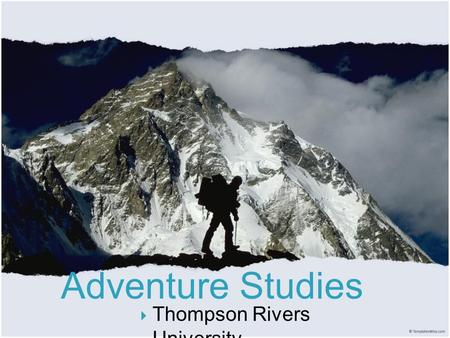  Thompson Rivers University Title SAILING KAYAKING SEA KAYAKING CANOEING RAFTING DIVING KAYAK ROLLING.
