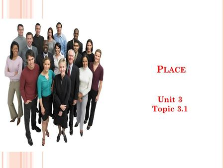 P LACE Unit 3 Topic 3.1. T HE MARKETING MIX : PLACE What is place?: Where the product is sold How it gets to the customer – otherwise known as distribution.