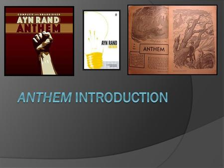 an analysis of the political system in the society in ayn rands story anthem A short ayn rand biography describes ayn rand's life, times, and work anthem is rand's political manifesto it takes the form of an allegory, a fictional story whose purpose is to present a philosophical idea.