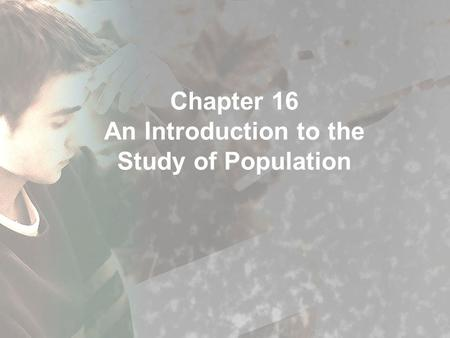 an introduction to the issue of growing population Population size and growth lies behind this number introduction vi population challenges and development goals.