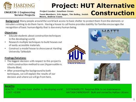 Project: HUT Alternative Construction