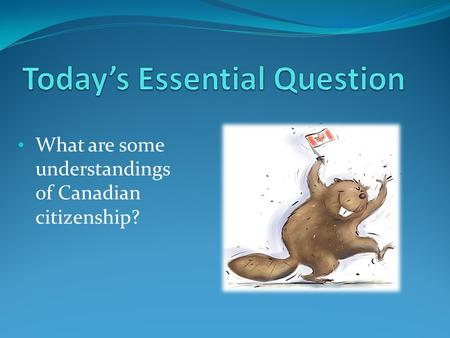What are some understandings of Canadian citizenship?