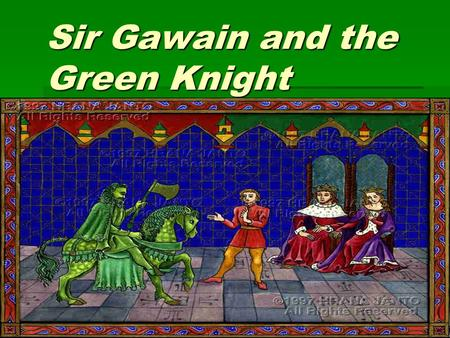 who is the green knight essay Let me begin, so that we may get our bearings, by going back to an essay that morton bloomfield wrote just fifty years ago it took the form of a general critical appraisal of sir gawain and the green knight, which bloomfield undertook at the end of so many years already of mutually incompatible interpretations so that.