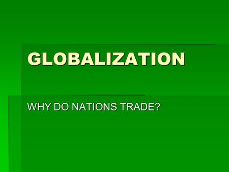 why do nations trade pdf