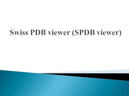 1.  Introduction  STARTING a SPDB view Session  Basic SPDB view Commands  Advanced SPDB view Commands  Ending a SPDB view Session 2.