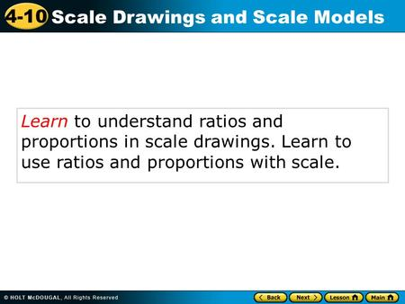 Learn to understand ratios and proportions in scale drawings