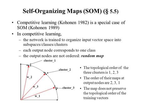 Self-Organizing Maps (SOM) (§ 5.5)