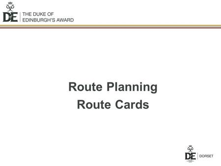 Route Planning Route Cards