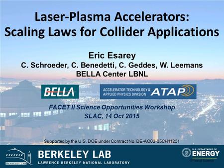 Laser-Plasma Accelerators: Scaling Laws for Collider Applications