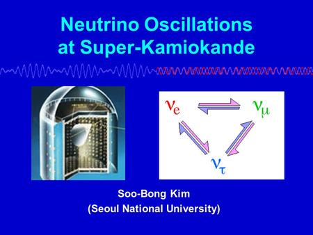 Neutrino Oscillations at Super-Kamiokande Soo-Bong Kim (Seoul National University)