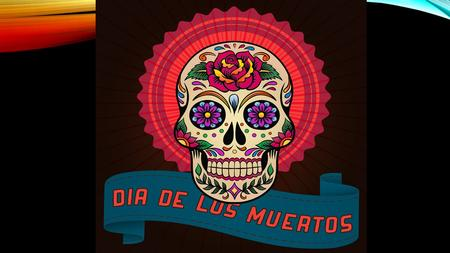 October 31 st – November 2 nd The Day of the Dead is a Latin American holiday (primarily Mexican) that is kind of similar to our Halloween and All.