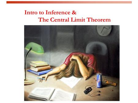 Intro to Inference & The Central Limit Theorem. Learning Objectives By the end of this lecture, you should be able to: – Describe what is meant by the.