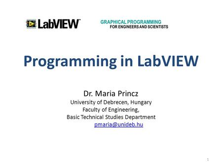 Programming in LabVIEW