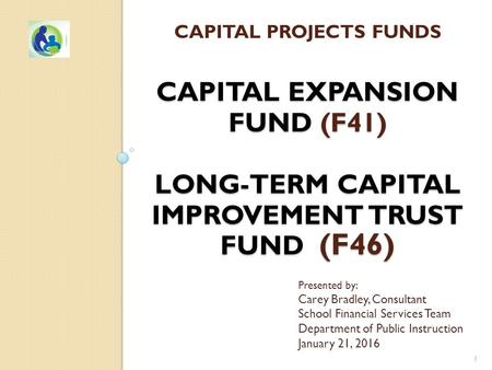 CAPITAL EXPANSION FUND (F41) LONG-TERM CAPITAL IMPROVEMENT TRUST FUND (F46) CAPITAL PROJECTS FUNDS CAPITAL EXPANSION FUND (F41) LONG-TERM CAPITAL IMPROVEMENT.