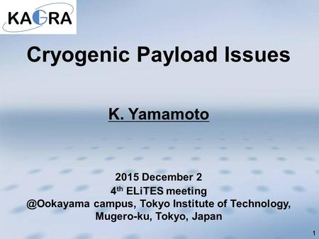 Cryogenic Payload Issues