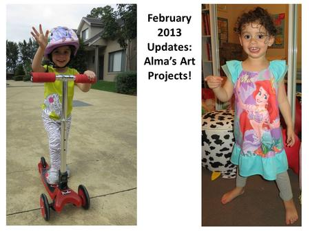 February 2013 Updates: Alma's Art Projects!. Alma explored various ways to work with oil pastels.