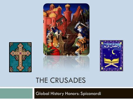 THE CRUSADES Global History Honors: Spiconardi. Reasons for the Crusades  Pope wanted to increase his power  Christians believed they could gain salvation.