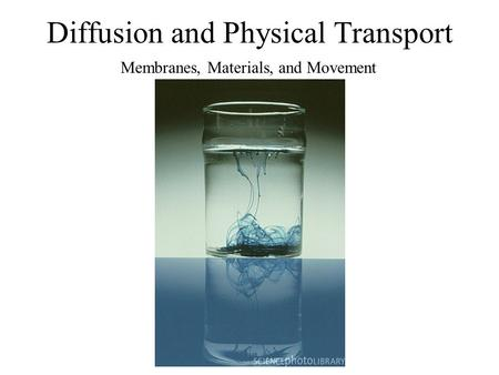 Diffusion and Physical Transport