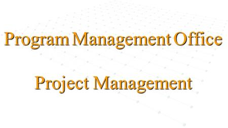 Program Management Office Project Management. 2 Governance The governing body that establishes rule making and rule enforcement for the endeavor. Governance.