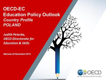 11 OECD-EC Education Policy Outlook Country Profile POLAND Judith Peterka, OECD Directorate for Education & Skills Warsaw, 25 November 2015.