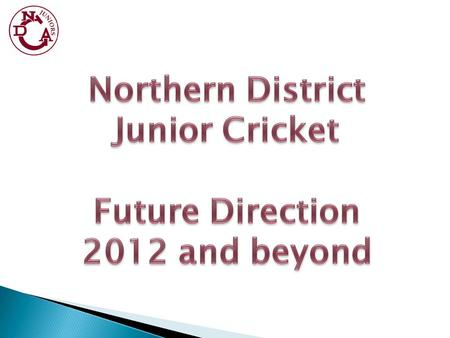 At the end of last season Cricket NSW's area cricket manager gave a presentation to the NDCA Junior delegates meeting on possible future plans of cricket.